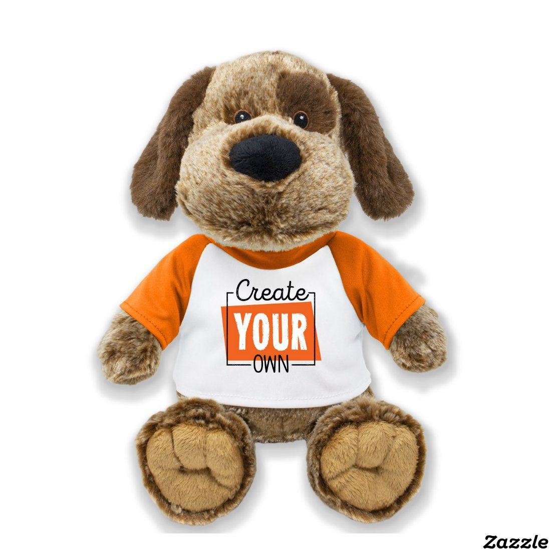 Create Your Own Stuffed Animal Zazzle Com Plush Animals Personalized Stuffed Animals Dogs And Puppies [ 1106 x 1106 Pixel ]