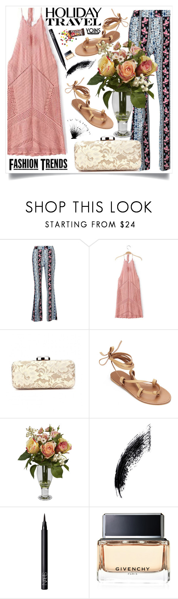 """Yoins"" by loveyoins ❤ liked on Polyvore featuring Nearly Natural, NARS Cosmetics and Givenchy"