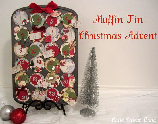 christmas muffin tin advent so cute, but looks time consuming