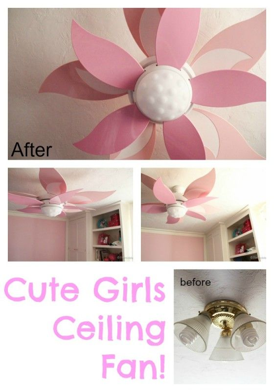 Amazing Girls Room Ceiling Fan   I Want Mine To Be White And Yellow!