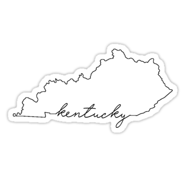 Kentucky Pride Stickers By Clemscustoms Redbubble Kentucky Pride Pride Stickers Kentucky Outline