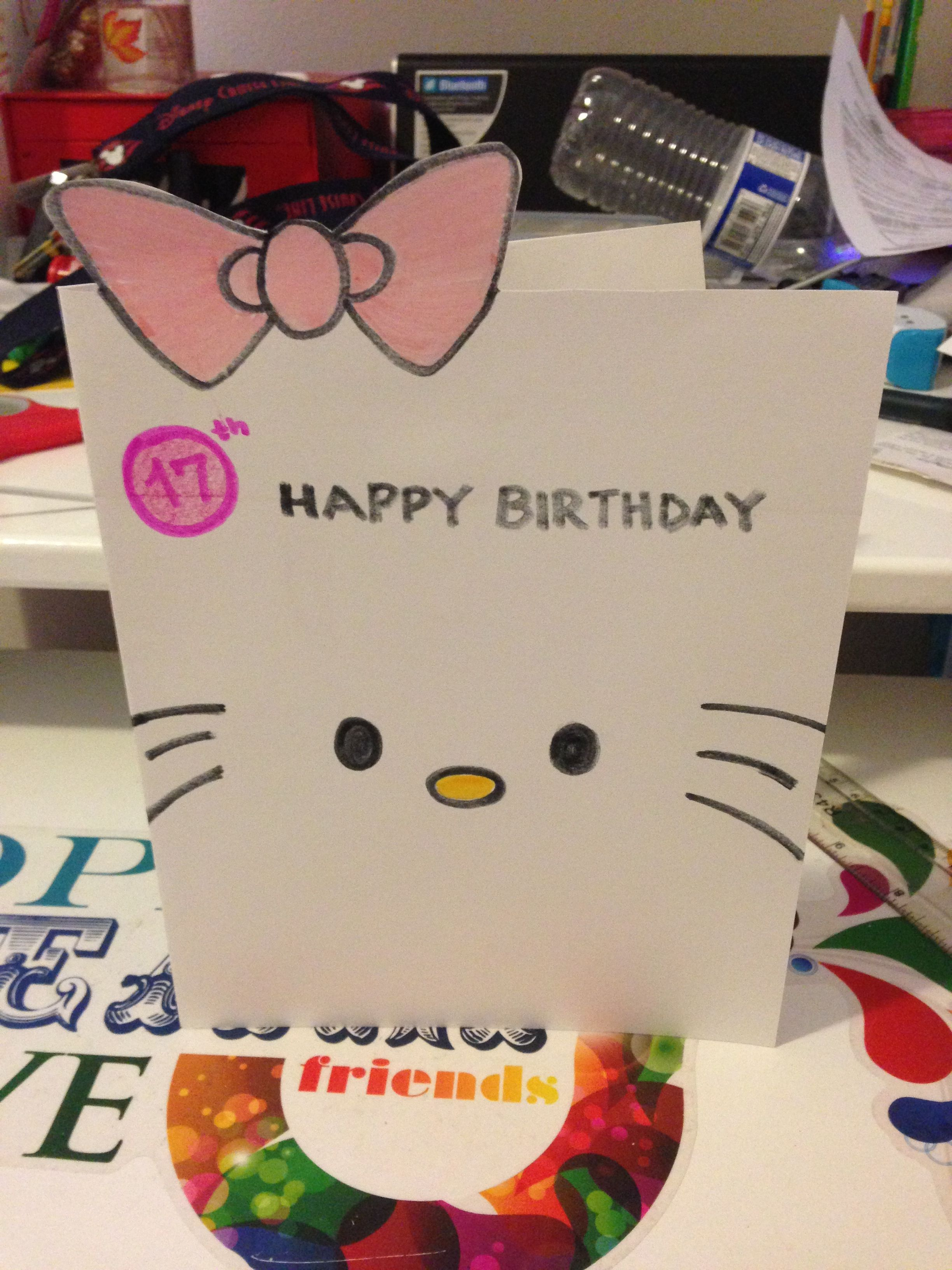 Here S My Diy Birthday Card For My Cousin Very Simple But I Thought It Was Really Cute And Yes I Know I Put Kids Birthday Cards Simple Cards Cards Handmade