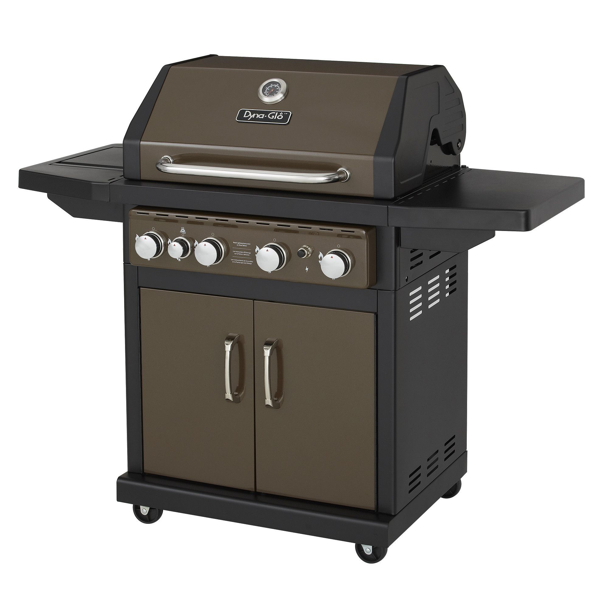 4 Burner Gas Grill With Side Burner And Electric Pulse Ignition Gas Grill Reviews Gas Grill Gas Bbq