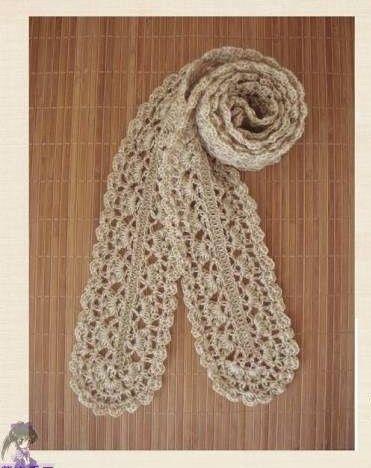crochet cute scarf, crochet pattern -- free chart | Knit and Crochet ...