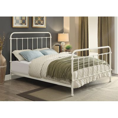 Walnut Grove Panel Bed Size: King Finish: Vintage White | bedrooms ...