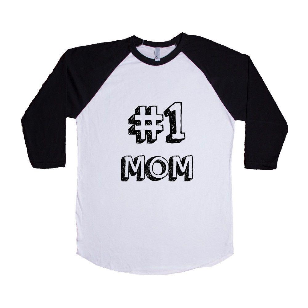 Number 1 Mom Moms Mother Mothers Grandparents Grandma Grandmother Children Kids Parent Parents Parenting Unisex Adult T Shirt SGAL3 Baseball Longsleeve Tee