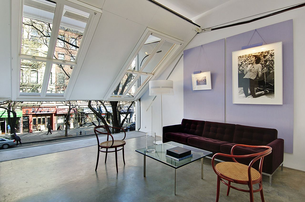 new york brownstone re imagined a fully retractable second floor