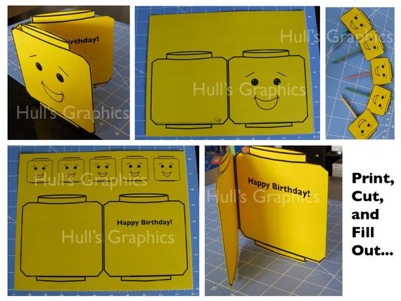 Block Head Craft Birthday Card PDF