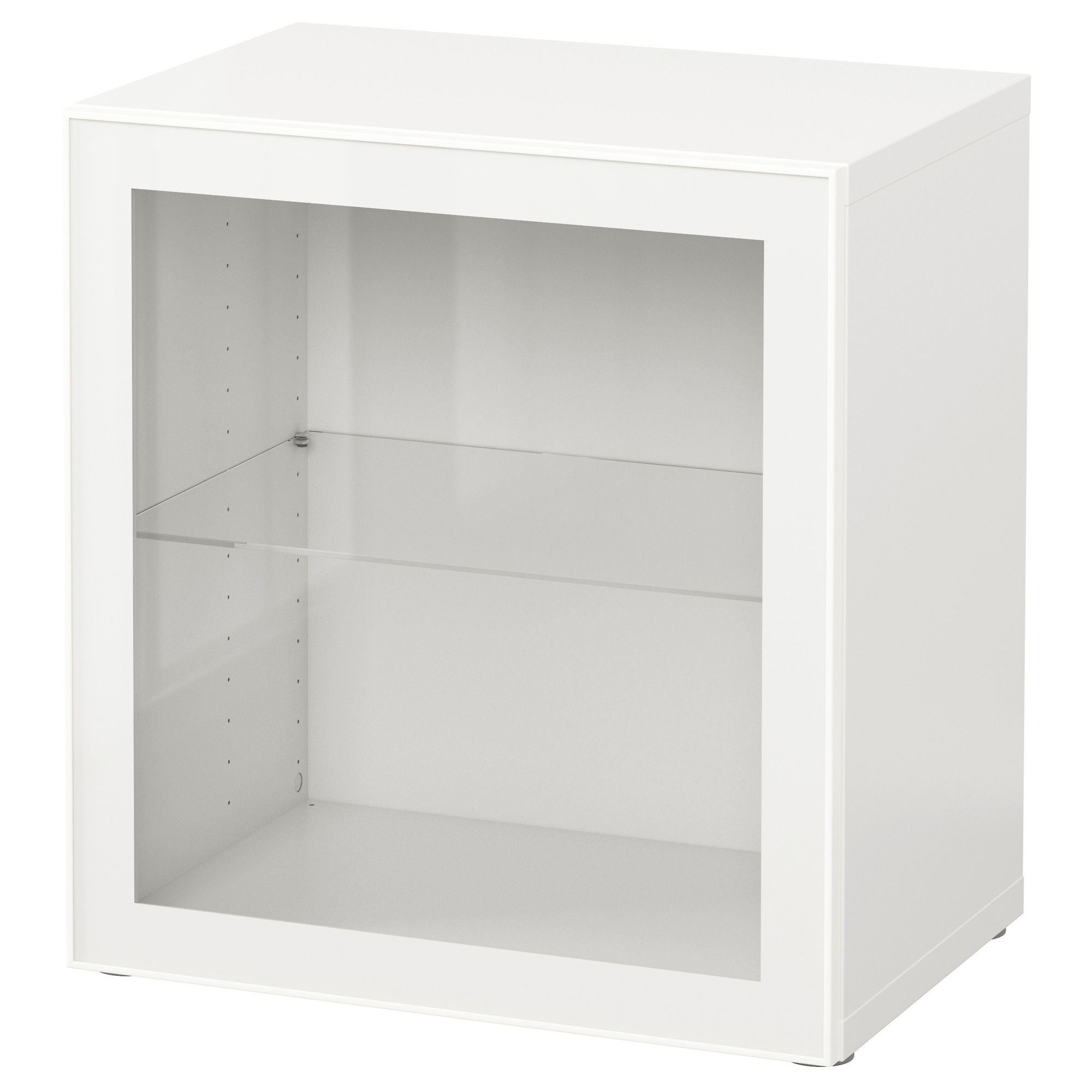 BEST… Shelf unit with glass door white Glassvik white clear glass
