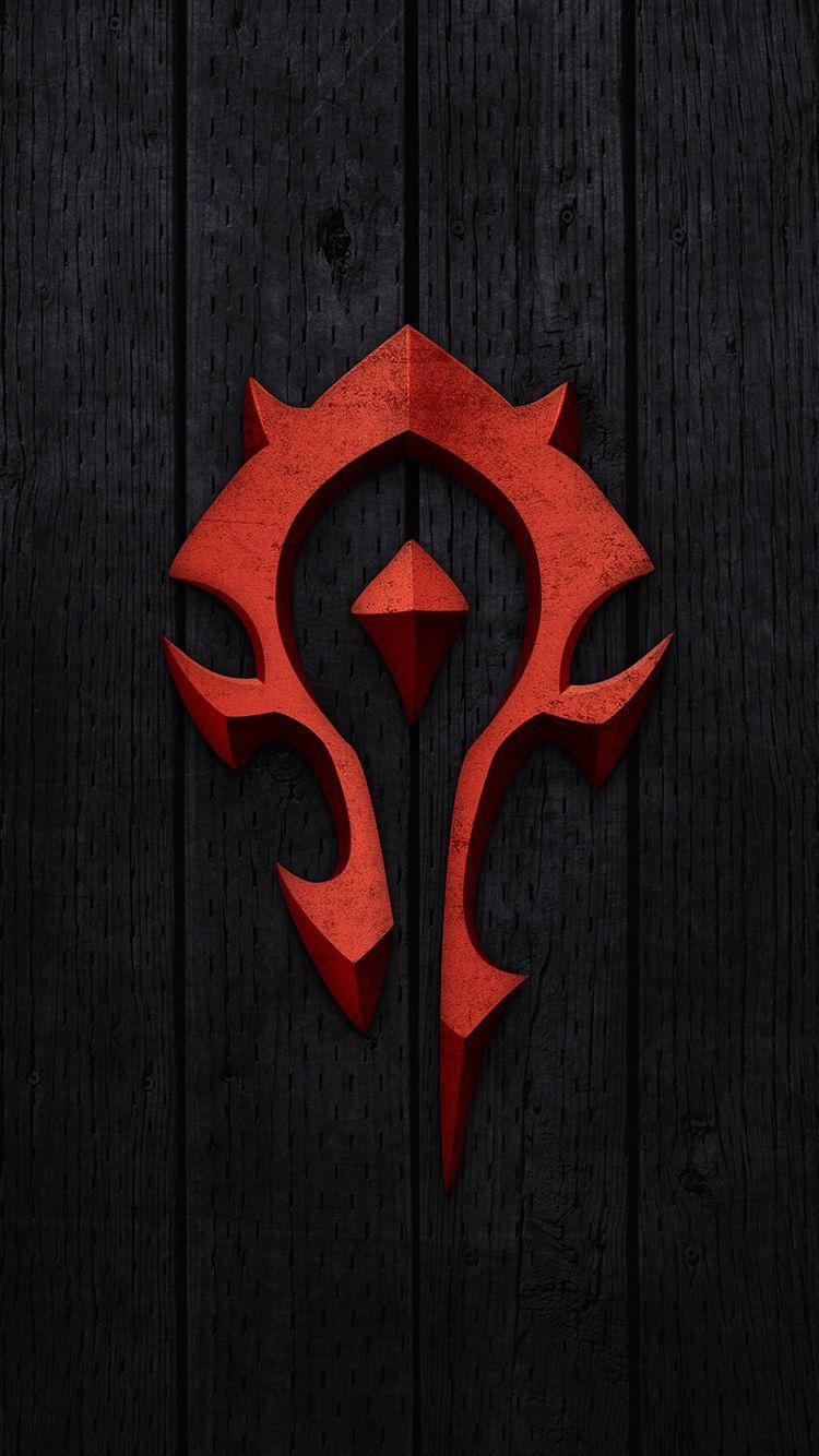 Horde Logo Mobile Wallpaper Iphone Black Background Free 0010109288384 Wallpaper World Of Warcraft Wallpaper Warcraft Art World Of Warcraft