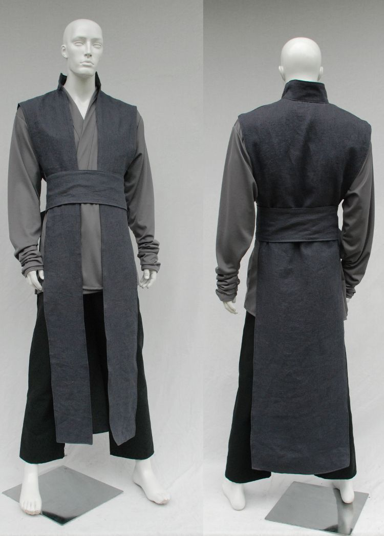 9c8994b5d0 Textured Linen Reversible Surcoat and Gray Knit Tunic Sith Robe