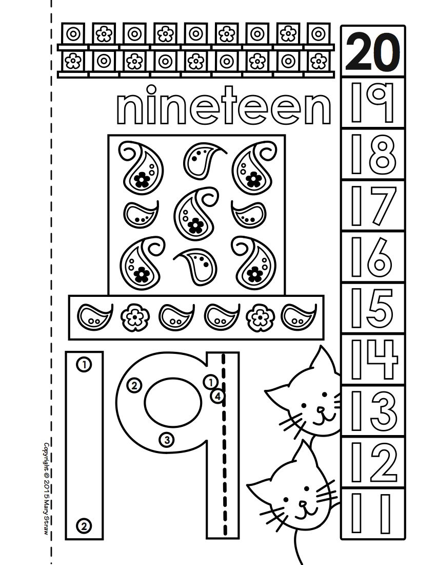 Dot-to-Dot Number Book Bundle 1-20 Activity Coloring Pages ...