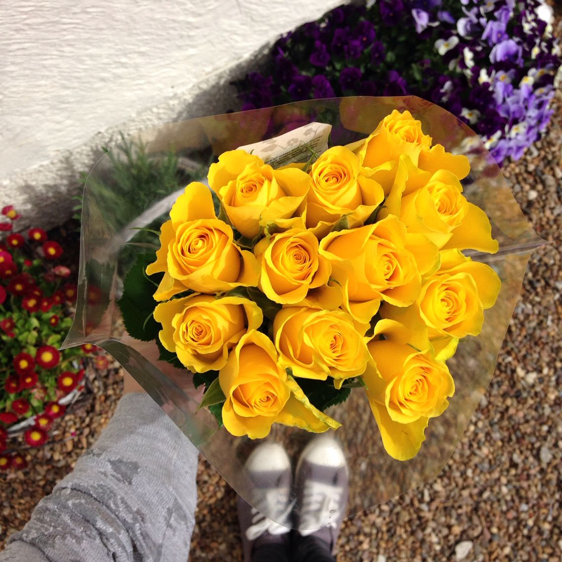 A bunch. For me! Flowers, Yellow roses, Rose