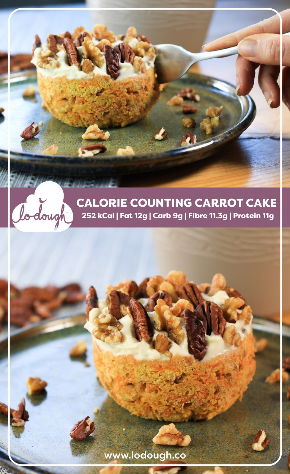 Calorie counting carrot cake recipe healthy dessert