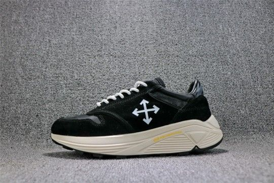 Off-White Arrow detail Low Sneakers Black White  1f58c93b5