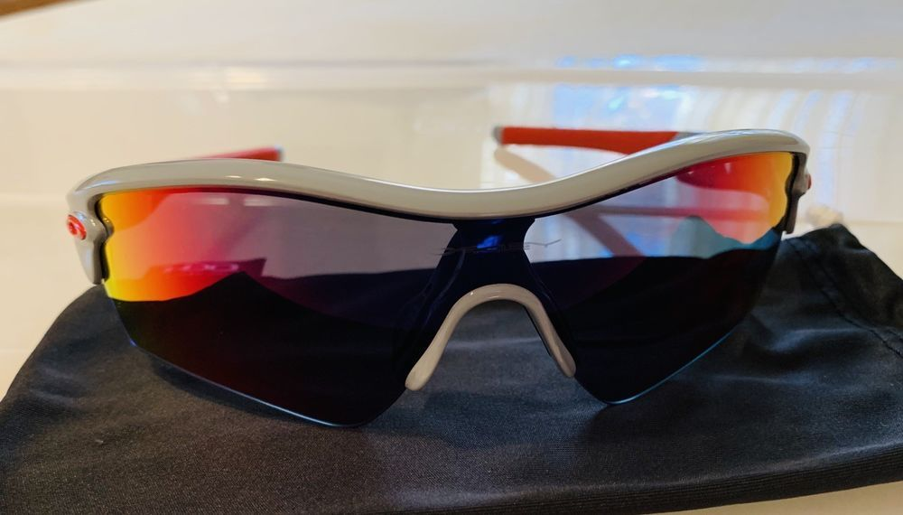 Oakley Radar Path sunglasses Polished Fog   Positive Red Iridium  fashion   clothing  shoes ba42138afa