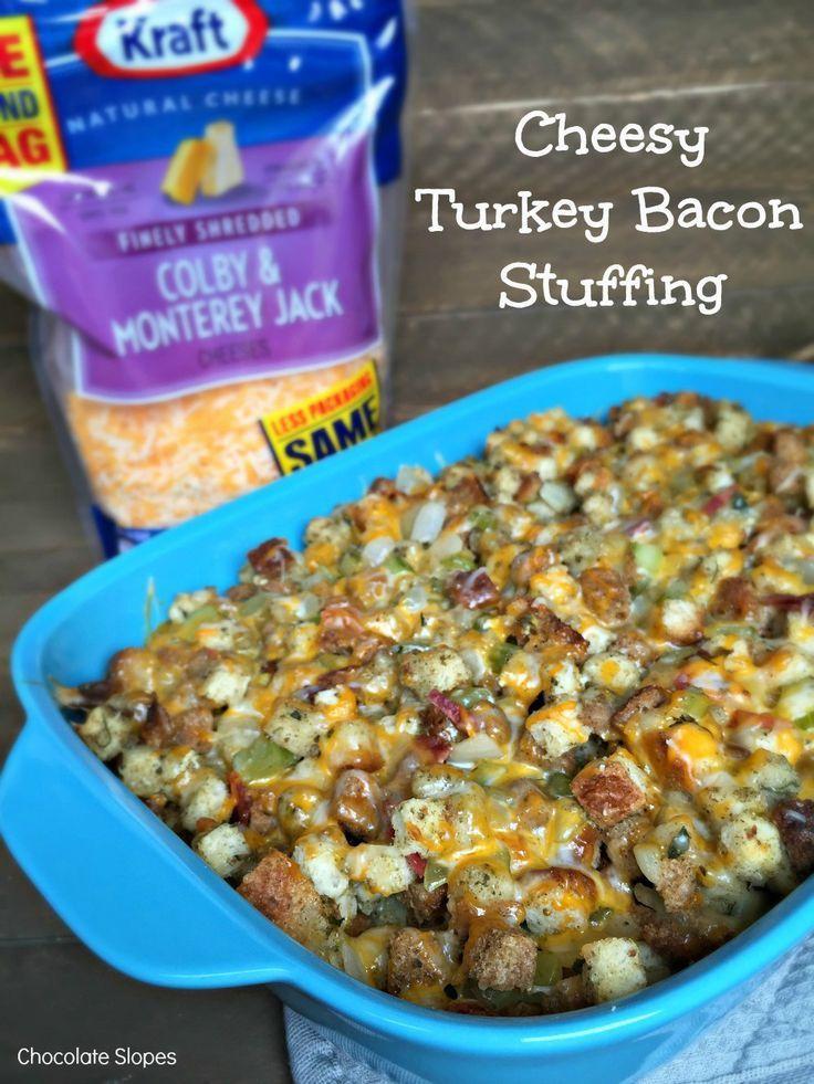 cheesy turkey bacon stuffing naturallycheesy ad