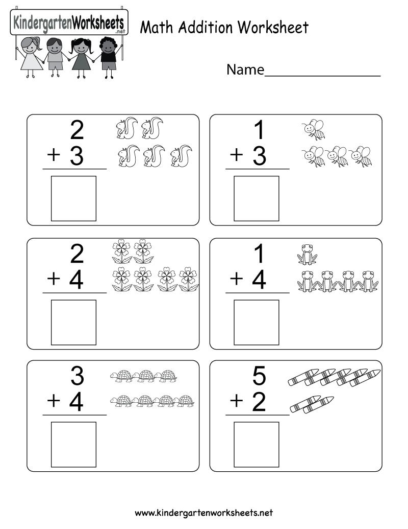This Is A Simple Addition Worksheet With Images This Worksheet Would Be Pe Kindergarten Math Worksheets Addition Math Addition Worksheets Easy Math Worksheets