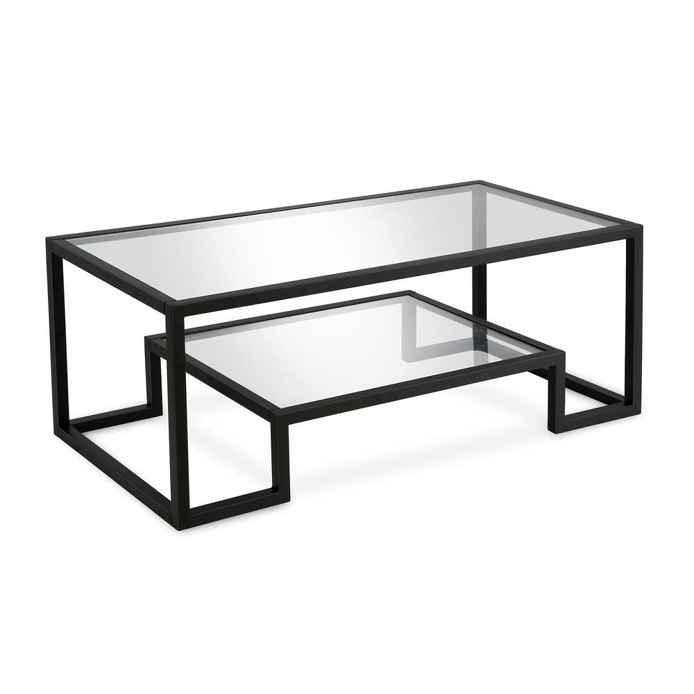 Meyer Cross Athena 45 In Blackened Bronze Clear Large Rectangle Glass Coffee Table With Shelf Ct0181 The Home Depot Bronze Coffee Table Coffee Table With Shelf Metal Coffee Table [ 1000 x 1000 Pixel ]