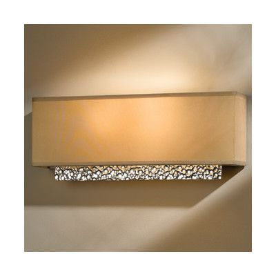 Hubbardton Forge Oceanus Wall Sconce Shade Color: Doeskin Suede