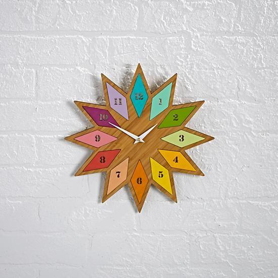Chromatic Bamboo Wall Clock The Land Of Nod