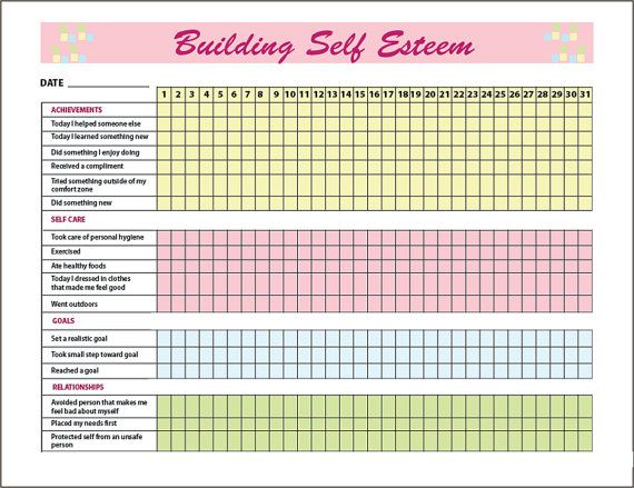 boosting self confidence activity sheets pdf