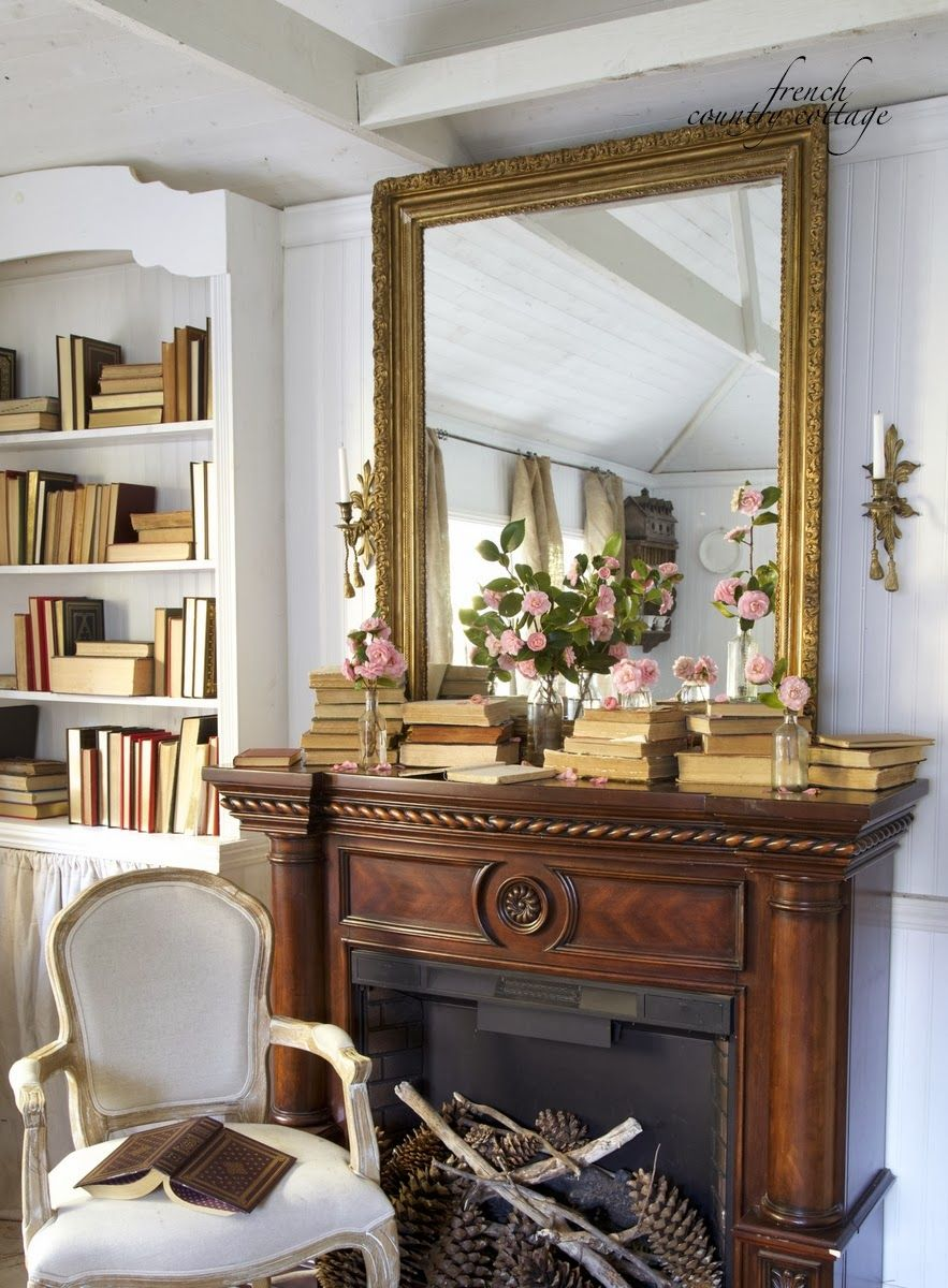FRENCH COUNTRY COTTAGE Spring Mantel & Party