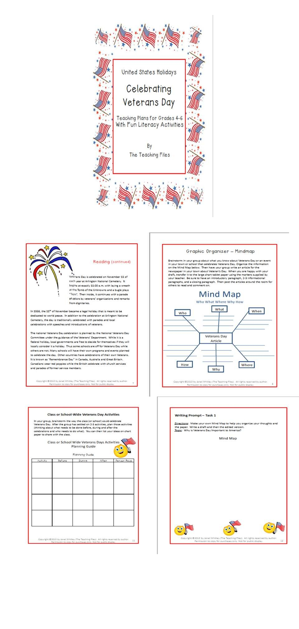 Veterans Day Teaching Plans For Grades 4 6 Writing Worksheets Teaching Plan Vocabulary Worksheets [ 2016 x 960 Pixel ]