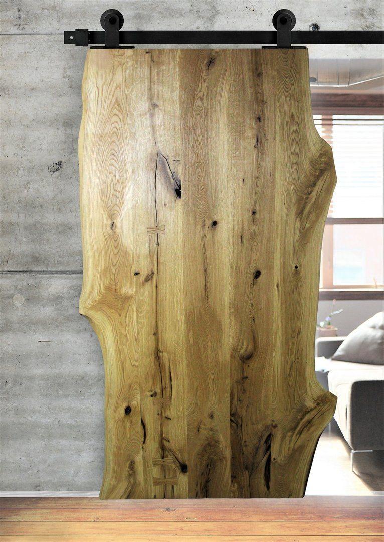 One Board Basic Schiebetur Aus Eichenholz Live Edge Farbauswahl