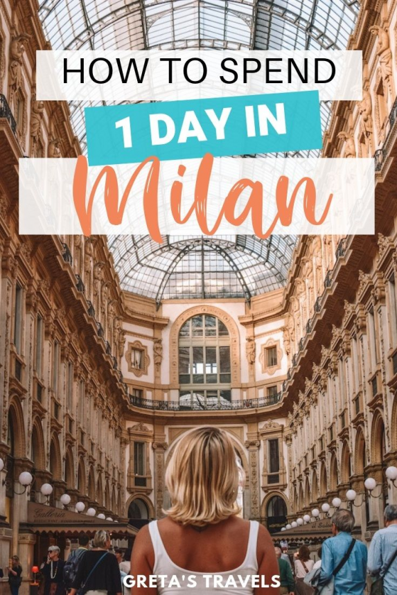 Milan is one of the most popular cities in Italy. Find out the best things to do places to see and where to eat if you're only visiting Milan for one day. #milan #italy #traveladvice #milaninoneday #milantraveltips #europe #milantraveladvice #traveltips #travel #tips #italy
