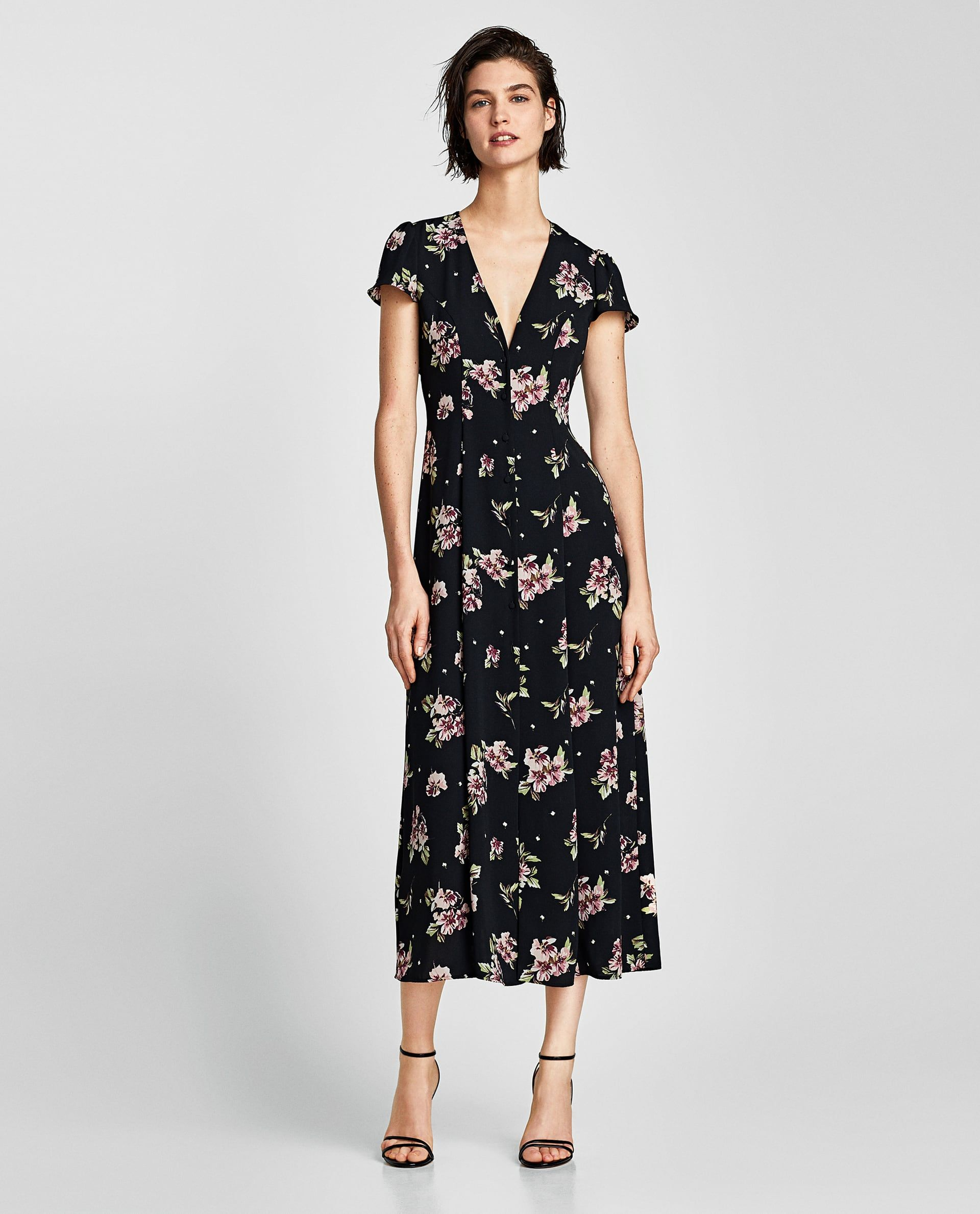 e9d0ab9fc9 Image 1 of LONG PRINTED DRESS from Zara | To Wear in 2019 | Dresses ...