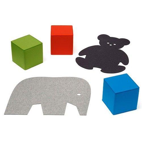 TAPIS Pour enfant ourson ELEPHANT HEY SIGN dispo en rose, gris, bleu