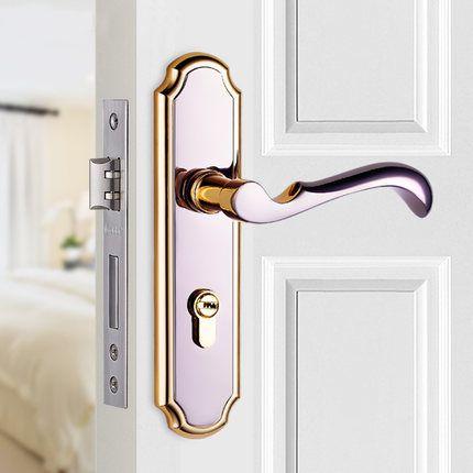 free shipping door lock indoor bedroom door lock three simple