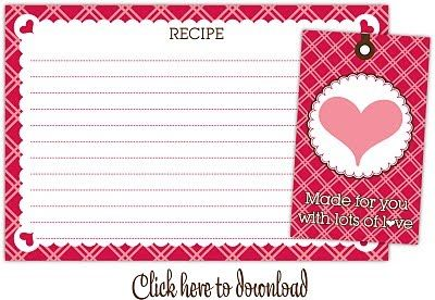 My Students Are Making Recipes For An Awesome Mom Recipe Cards Template Recipe Cards Valentine Tags