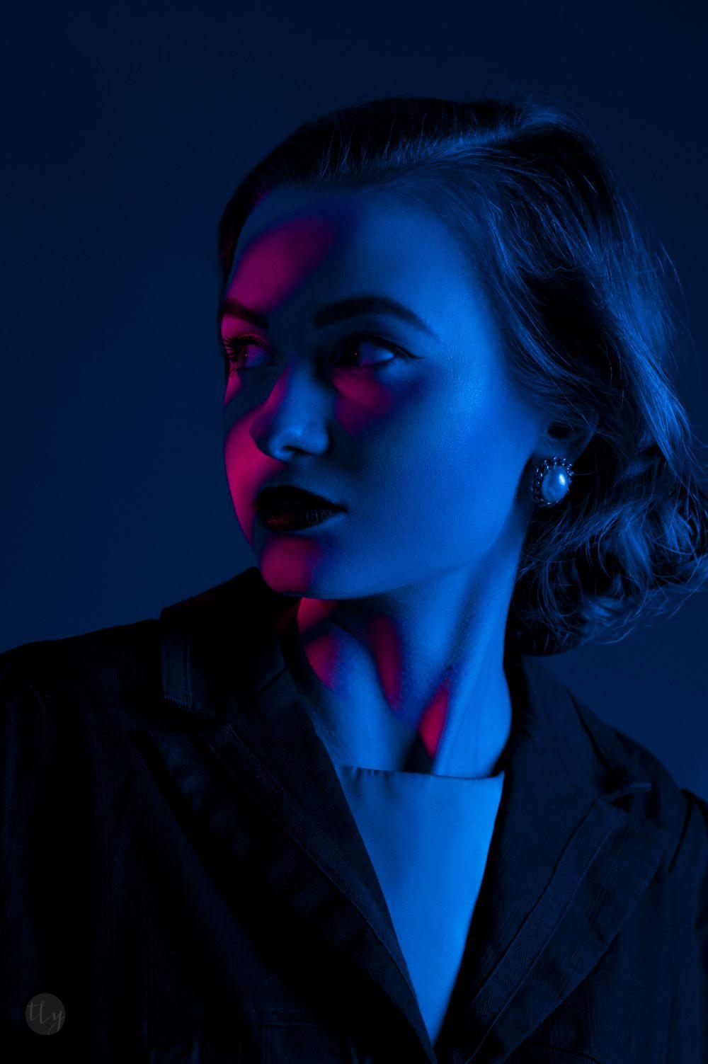 Neon Light Portrait On Behance: Portrait Photography Editing