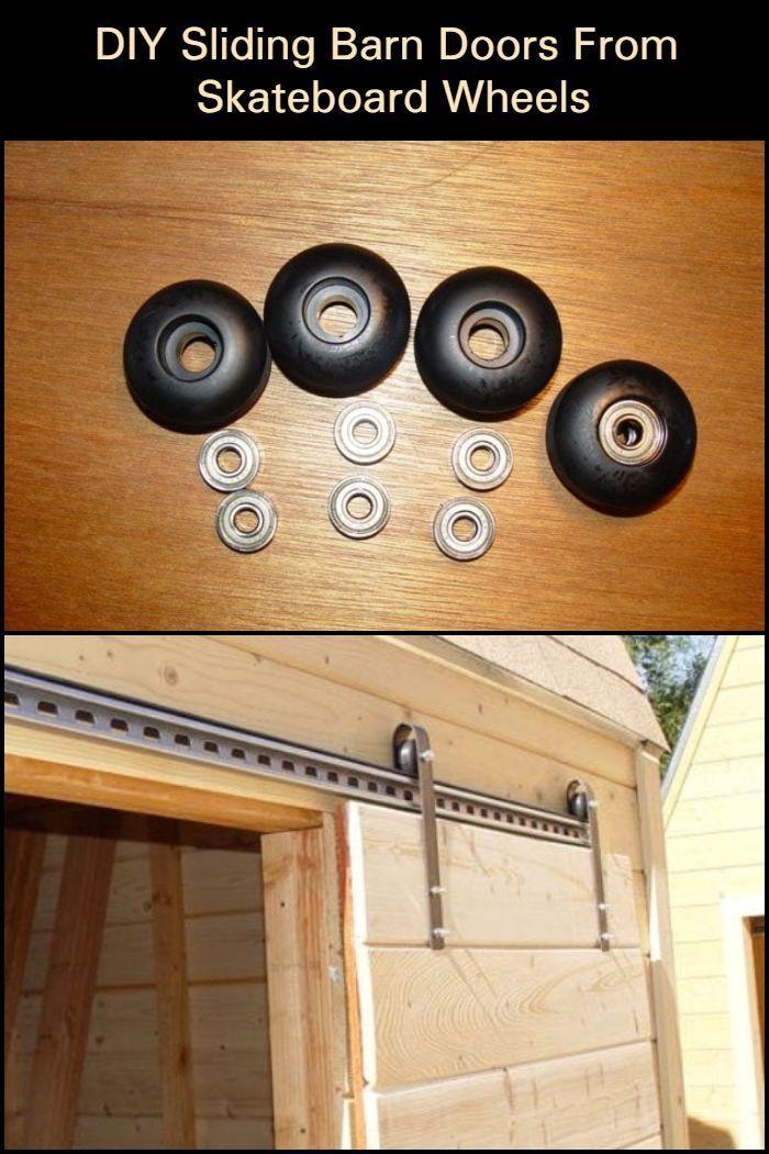 DIY Sliding Barn Doors From Skateboard Wheels | Your Project…