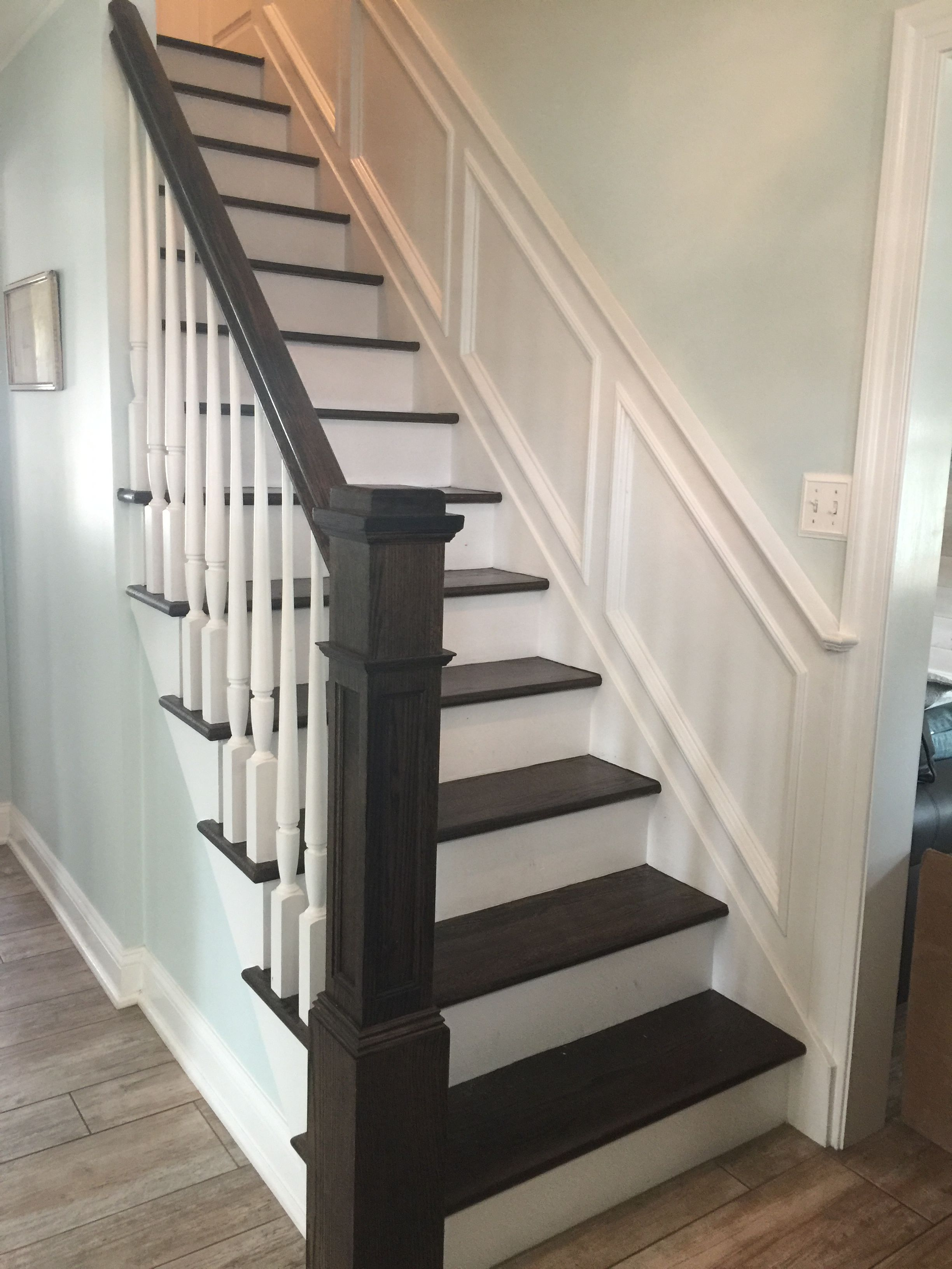 Moulding Wall Treatment At Stairway Grace Lily Design Pinterest