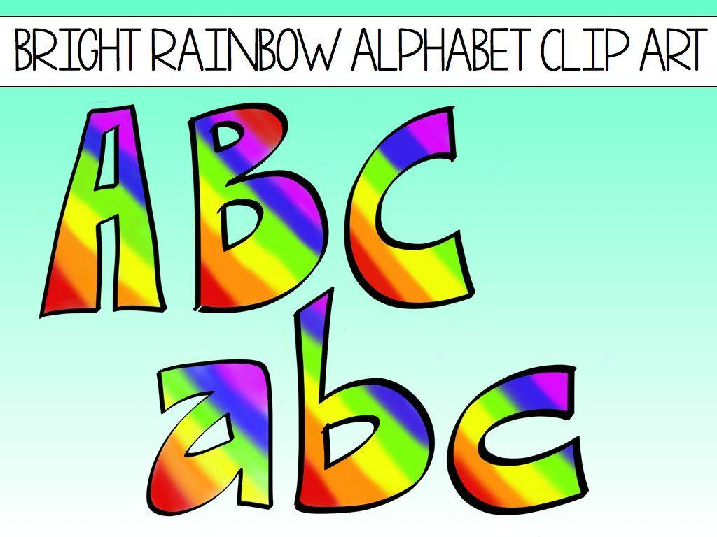 THINK SPRING With Bright Rainbow Alphabet Clip Art! | Clip ...