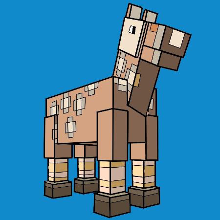 Coloriage le cheval de minecraft a imprimer dessin colorier et dessin non colorier dessin a - Cheval minecraft ...