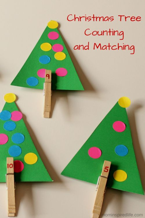 Christmas Tree Counting Math Activity Christmas Kindergarten Christmas Math Preschool Christmas