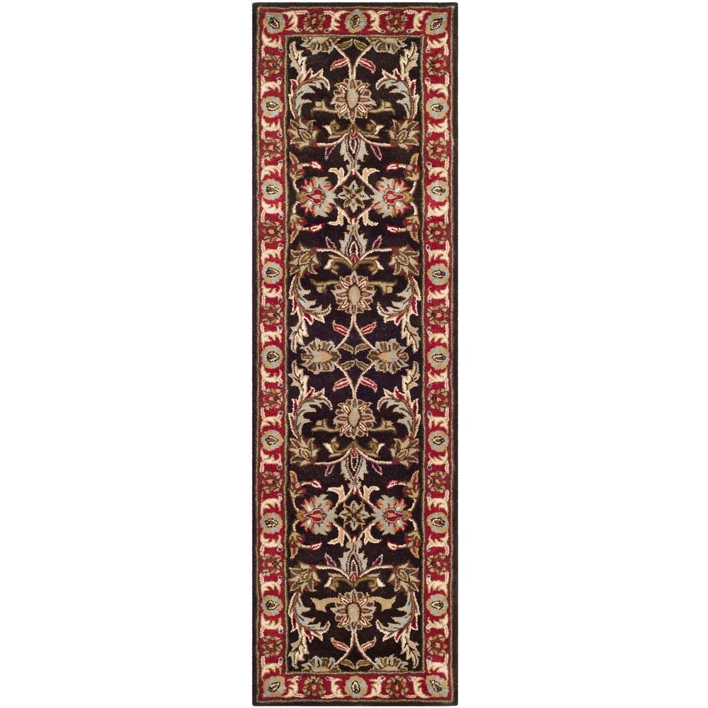 Best Safavieh Heritage Chocolate Red 2 Ft X 14 Ft Runner Rug 400 x 300