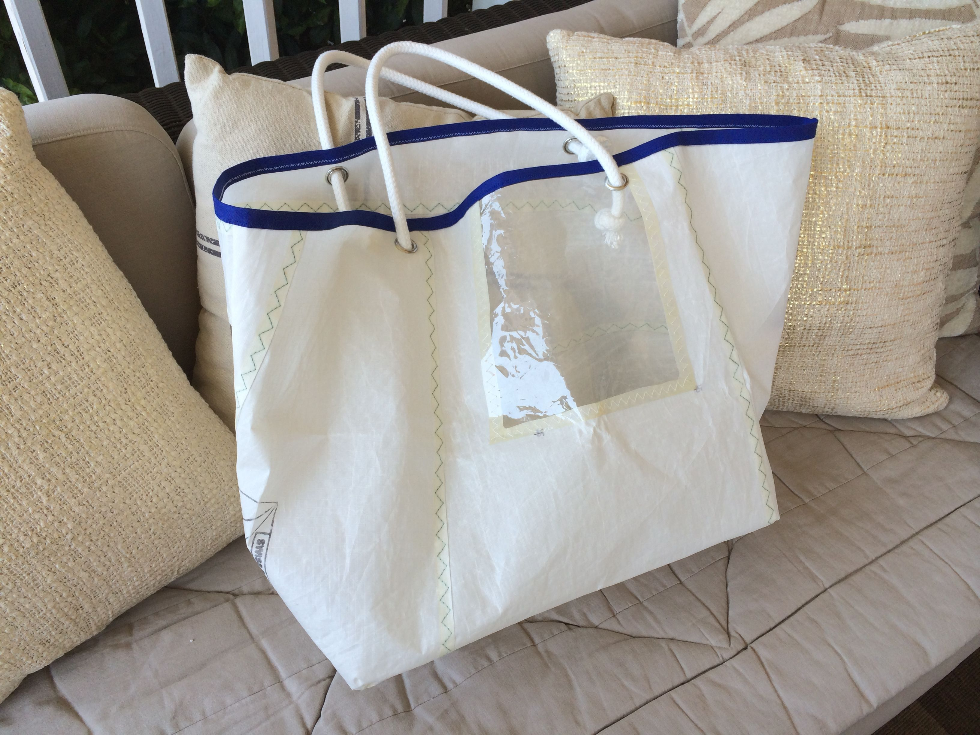 Sail cloth bag  Made out of recycled sali clothI used the part with