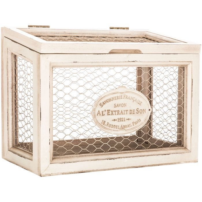 Hobby Lobby Decorative Boxes White Chicken Wire Box  Hobby Lobby  A Woman's Touch  Pinterest
