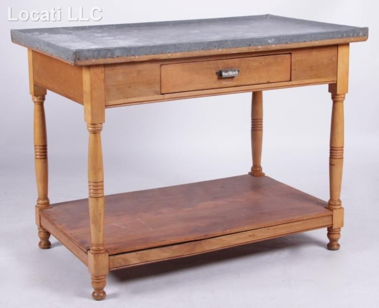 a zinc top kitchen table  kitchen tops top kitchen table