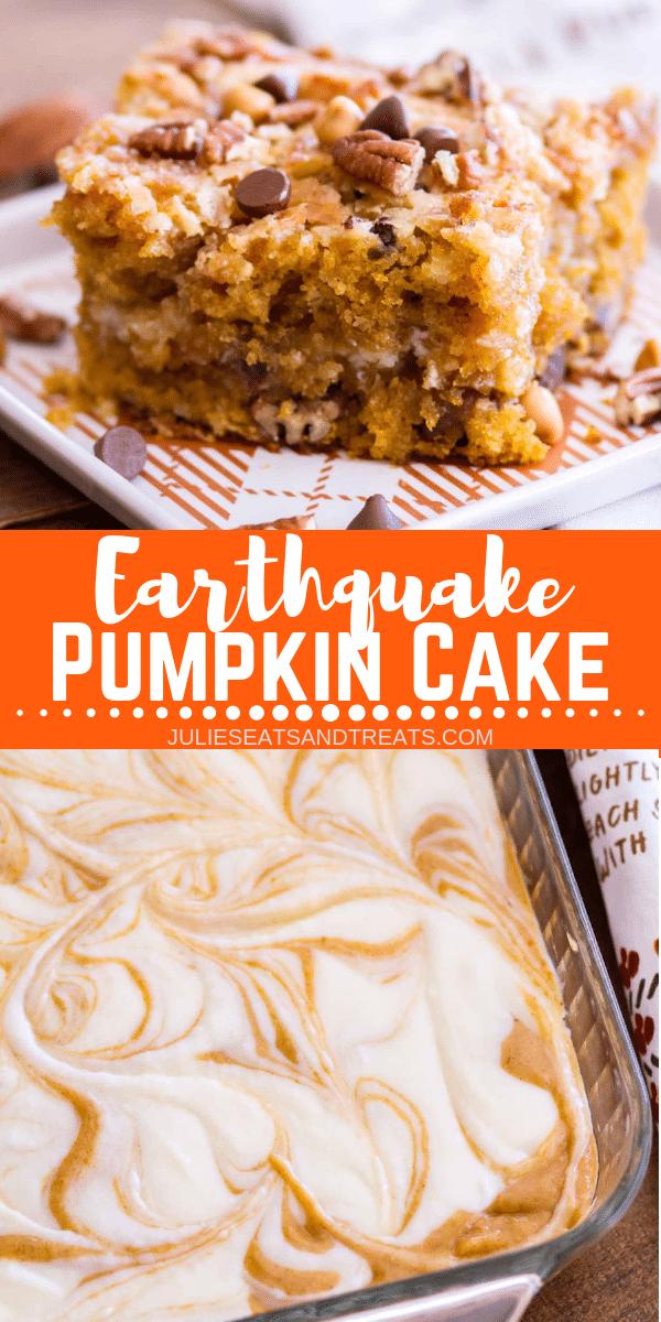 Earthquake Pumpkin Cake is one of the best fall de