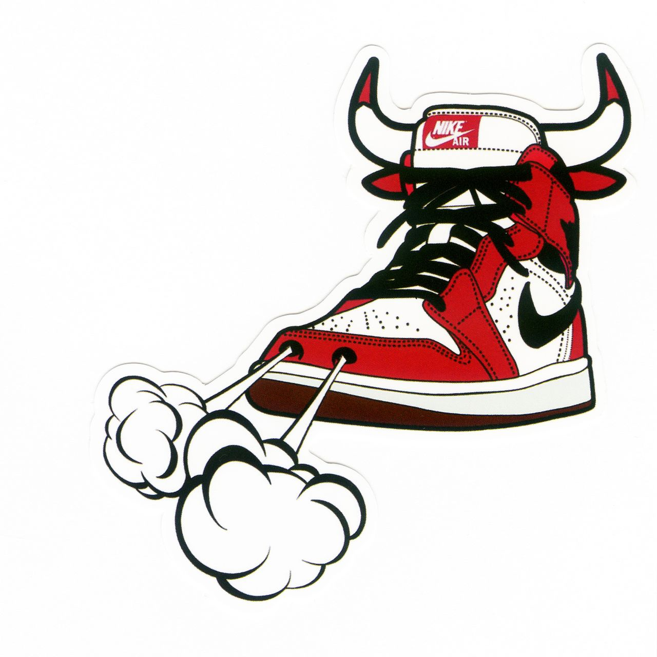 #1092 Michael Jordan 1 Sneakers NIKE AIR CHICAGO BULLS , Height 9 cm, decal…