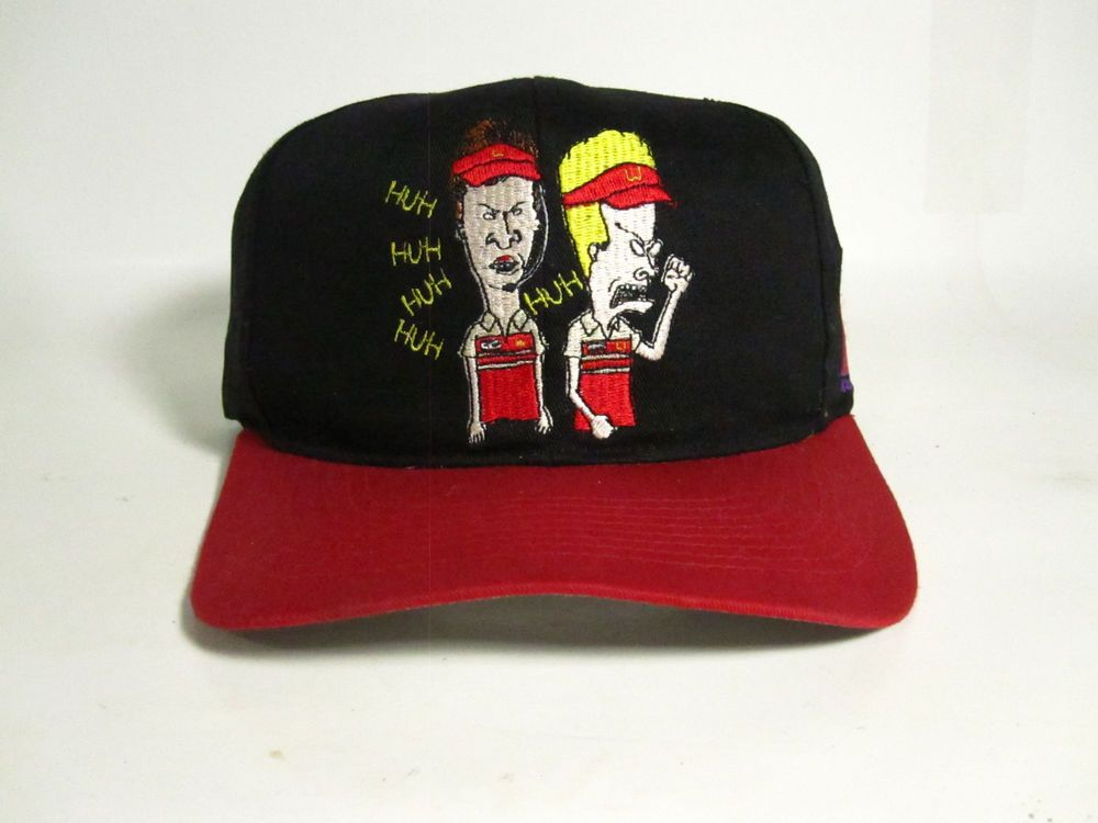 rare!!! vintage 1993 beavis and butthead MTV snapback vtg 90 s mens hat  93b5789eb26