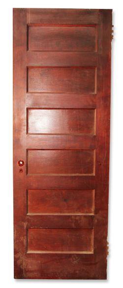 Six paneled interior door