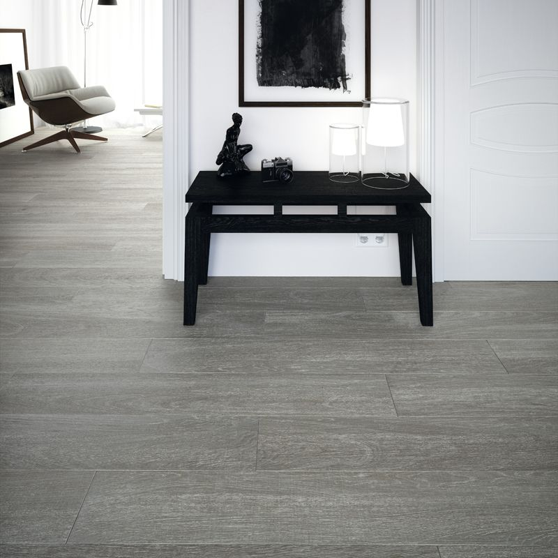 20mm Forest Grey Larch Paving Wood Effect Porcelain Tiles Living Room Flooring Flooring