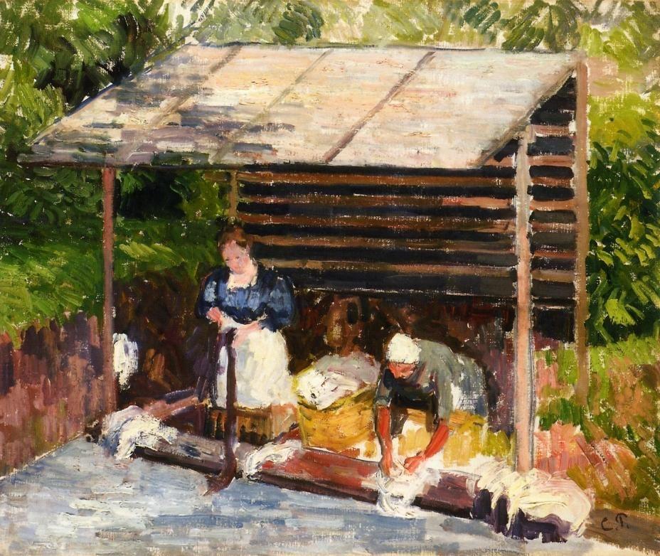 Pissarro, Laundresses in Eragny